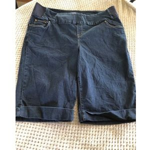 Woman Within Pull On Bermuda Jean Shorts 20W